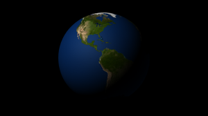 Render of the Earth after adding the ocean shader. Click for full size image.