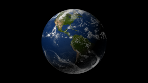 Render of the Earth after adding the cloud layer. Click for full size image.
