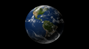 Render of the Earth after adding the night lights. Click for full size image.