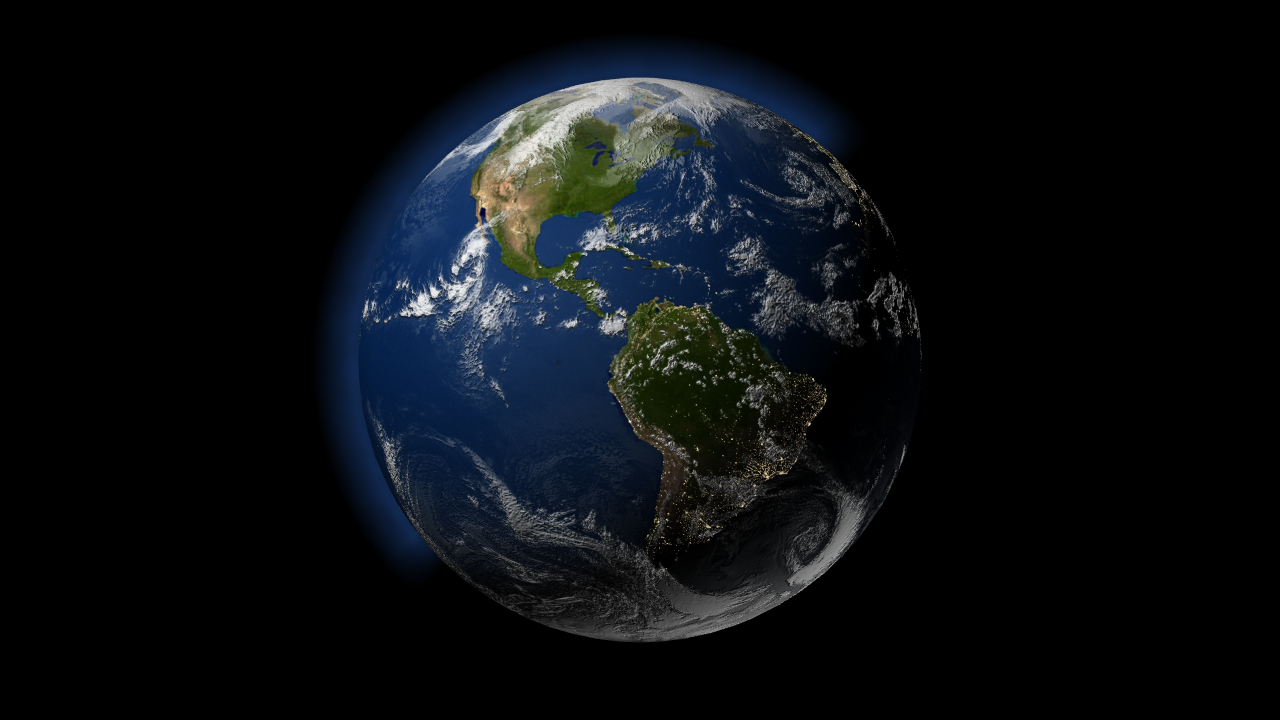 Lightwave 3d earth tutorial part 1 urban exile lightwave 3d model and render of the earth sciox Gallery