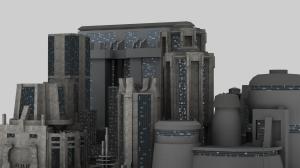 Dystopia City Blocks Test Render