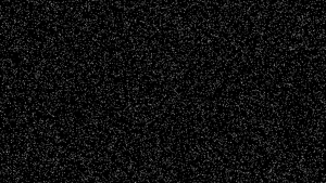 The first step of my instanced star field, where the field is randomly uniform and all stars are white. Click image to view full size.
