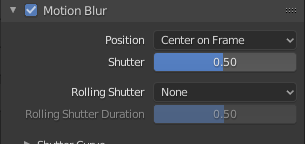 Blender Settings - Motion Blur