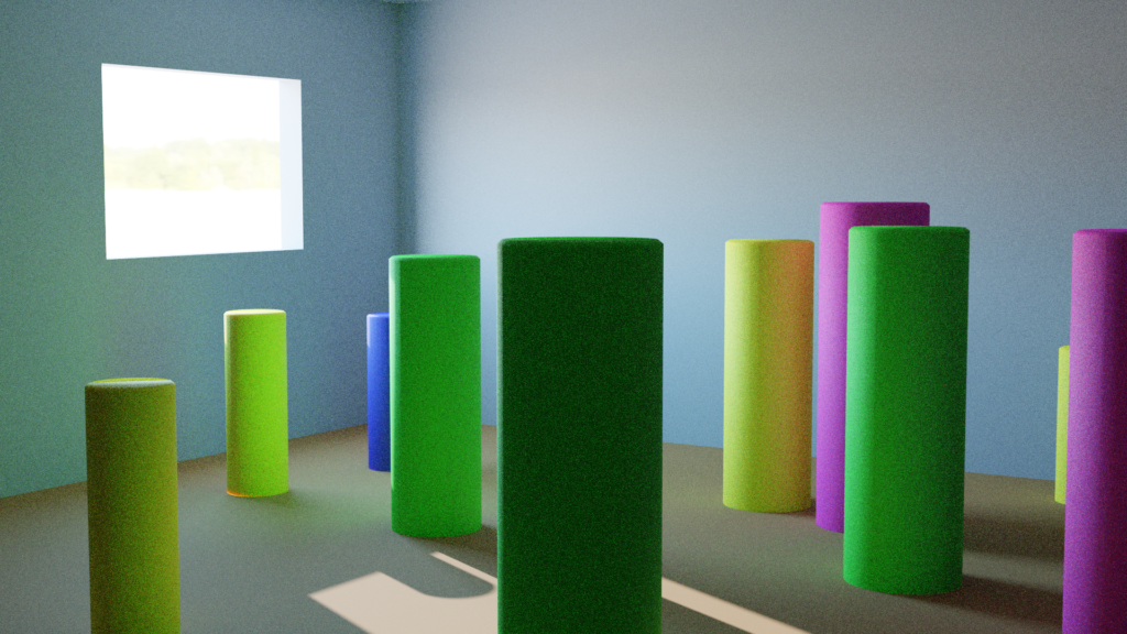 Scene rendered without volumetrics