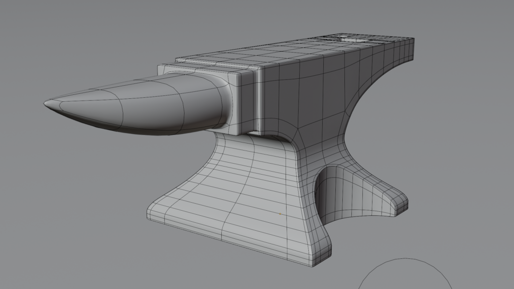 Wireframe render of the anvil
